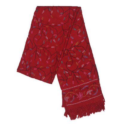 Picture of Woolen Shawl Red-black