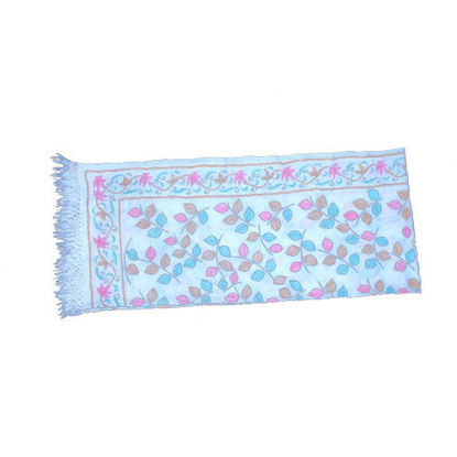Picture of Woolen Shawl White-Pink