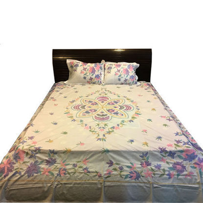 Picture of White Cotton Bed Sheets