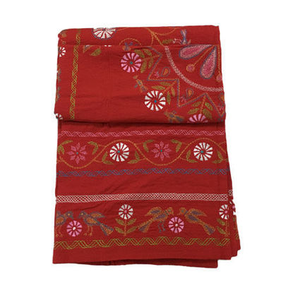 Picture of White Cotton Bed Sheets (Nakshi Kantha)